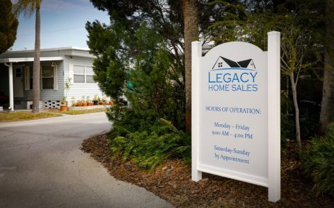 Pelican Palms Village Legacy Sign