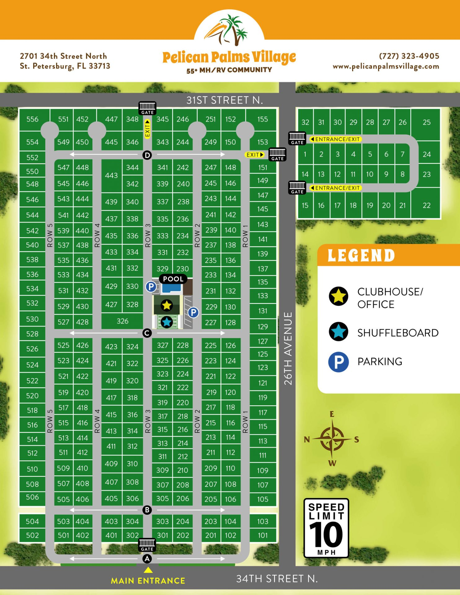 Pelican palms park map